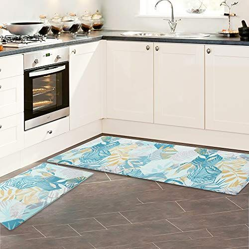Kitchen Rug Kitchen Mats Cushioned Anti Fatigue Non Slip Rubber Back Waterproof Kitchen Floor Mat Color Geome Kitchen Mats Floor Kitchen Mat Kitchen Flooring