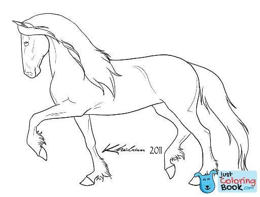 Friesian Horse Coloring Pages Printable Free Download In 2020