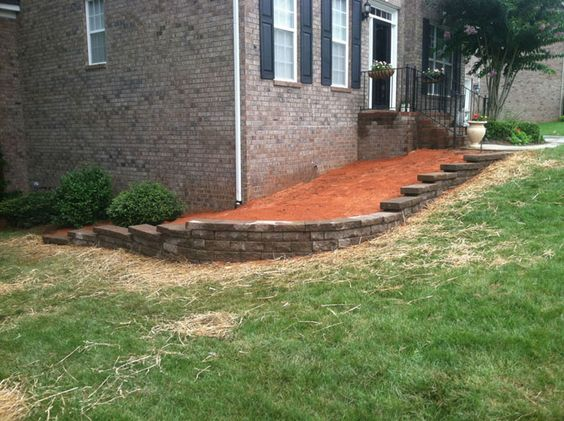 driveway retaining walls | Landscape Wall and Concrete Driveway Extension- Fort…