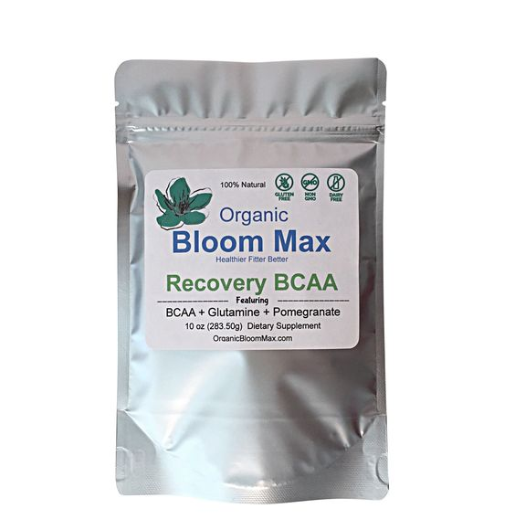 Workout Recovery Supplement  - VEGAN BCAA + Superfood Blend. Description Recover quicker from even the most intense workout with Organic Bloom Max's workout recovery supplement. Created with specially-selected organic ingredients, this great-tasting superfood blend has become one of our most sought-after supplements because of its high level of effectiveness. Blended at a 3/1/2 ratio for leucine, isoleucine, and valine, our recovery supplement supports and builds muscle in order to ensure…