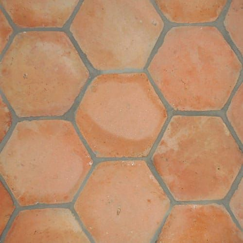 Hexagon Natural Terracotta Tiles 6x6