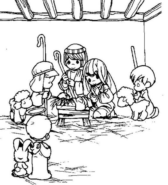 preshus moments nativity coloring pages - photo#25