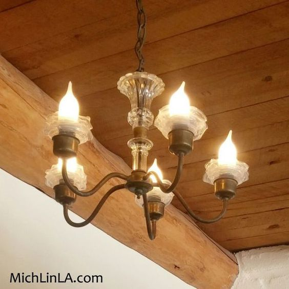Upcycled Lamps And Lighting Ideas: Upcycled Chandelier Ruffles