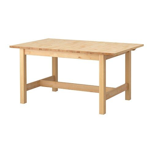 NORDEN Dining table IKEA Extendable dining table with 1 extra leaf seats 4-6; makes it possible to adjust the table size according to need.