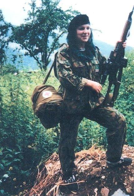 Chechen nurse/ fighter