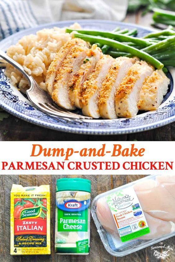 Parmesan Crusted Chicken {3 Ingredients!}