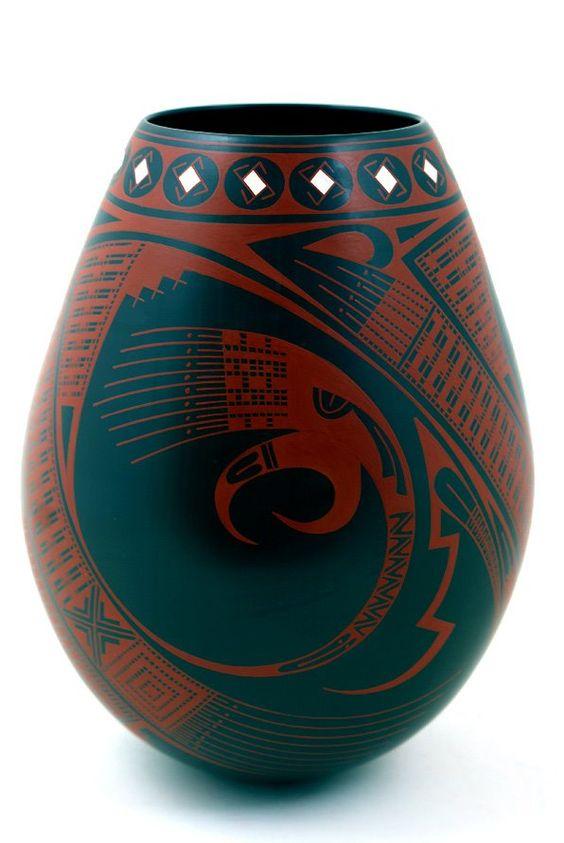 Cesar Dominguez-Mata Ortiz pottery