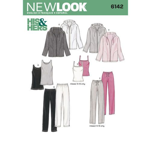 New Look Pattern 6142 Misses' & Men's Separates: