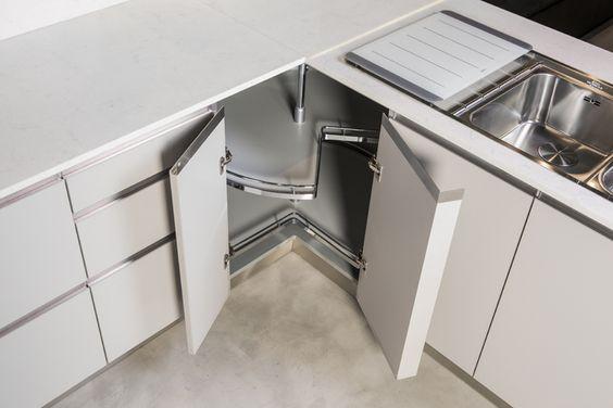 Armarios de esquina para cocina buscar con google organizadores creativos pinterest - Organizador armarios cocina ...