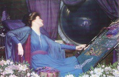 Lady of Shalott by Sidney Meteyard: Preraphaelite, Meteyard Lady, Half Sick, Meteyard 1913, Harold Meteyard, For Raphaelites, Meteyard 1868