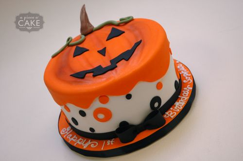 Pumpkin Theme Birthday Cake | Posted by Tara at 9:08 PM No comments: This is cute too @Katie Kracus