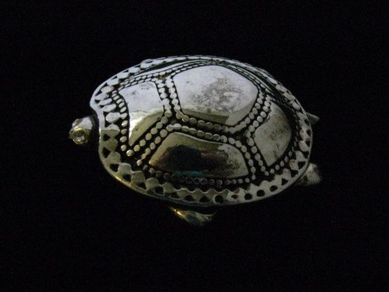 VINTAGE FIGURAL TURTLE BROOCH/PIN~ HEAVY SILVER PLATE in Jewelry & Watches, Vintage & Antique Jewelry, Costume | eBay