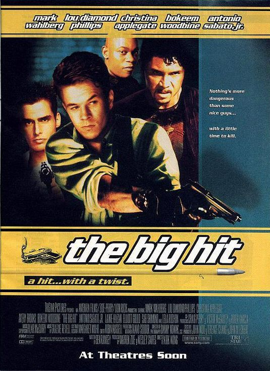 The Big Hit , starring Mark Wahlberg, Lou Diamond Phillips, Christina Applegate, Avery Brooks. To payoff his second girlfriend's debt, hitman Melvin Smiley undertakes a kidnapping job with his usual associates... #Action #Comedy #Crime #Thriller