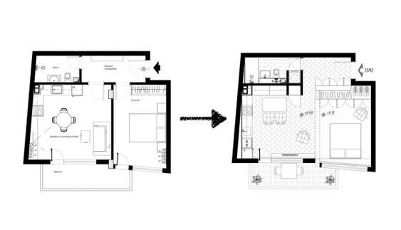 Three sleek apartments under 1500 square feet from all in studio includes floor plans home plans pinterest square feet apartments and squares