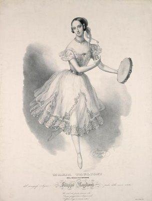 Ballet art: ballerina Marie Taglioni