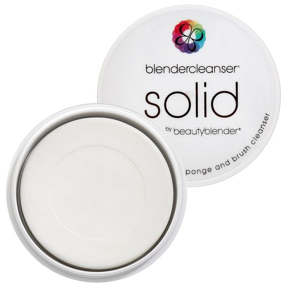 Beautyblender Solid Sponge Cleanser. This was originally made for the Beauty Blender Sponge, but I used it on my brushed today and they have never felt cleaner! So much easier than a liquid! #obsessed