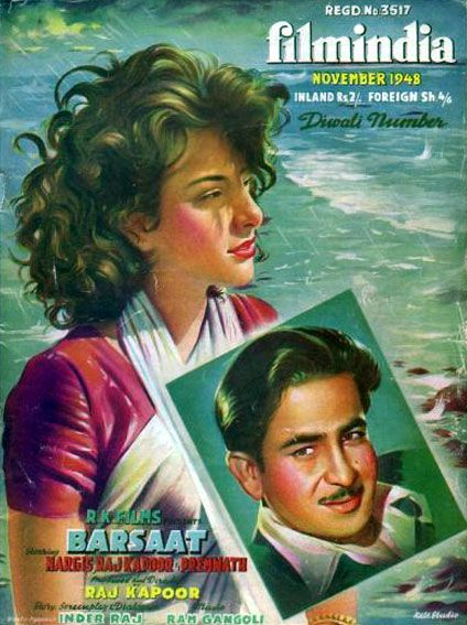 Nargis and Raj Kapoor on Filmindia cover - A tribute to #Nargis and #RajKapoor, the iconic on-screen couple who caught the imagination of the audience, cutting across age-barriers, language barriers and political boundaries.