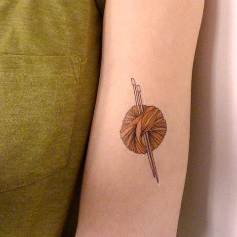 This tattoo from @kate_broughton_ is temporary, but crafting is forever. Tell us: What do you like to create?