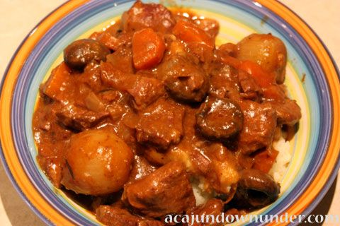 Beef Burgundy: This looks mouthwatering-good.