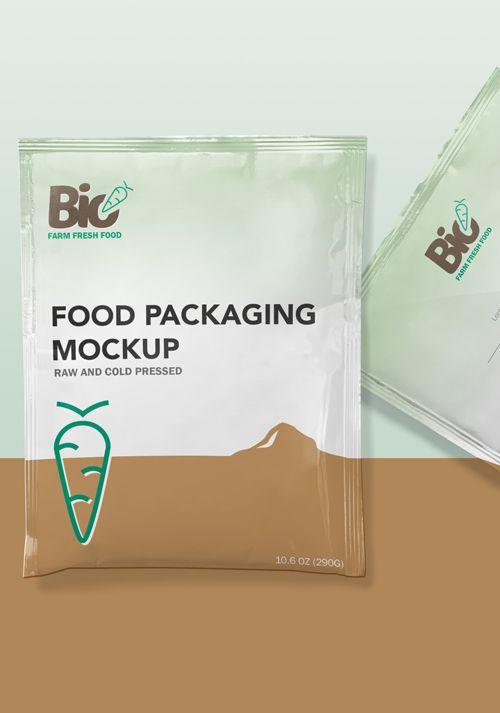 Download Free Foil Sachet Mockup Mockup Packaging Packaging Design
