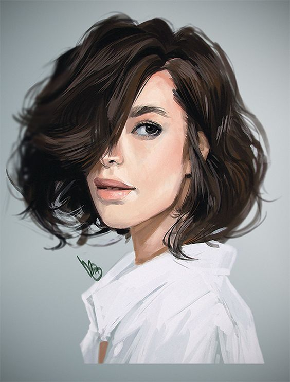 Artist: Mel Milton {contemporary figurative character illustrator beautiful female brunette woman portrait photoshop digital painting #loveart #Melmade #dookin}