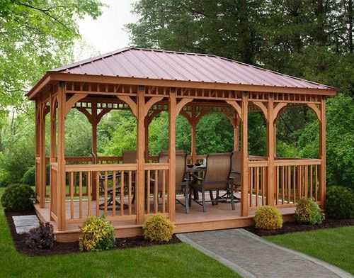 Wood Rectangular Gazebo Modern Gazebo Gazebo Plans Backyard Gazebo