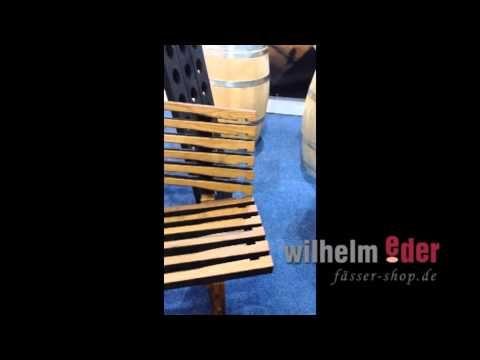 FassStolz Holzbank aus Eichenholzdauben - YouTube