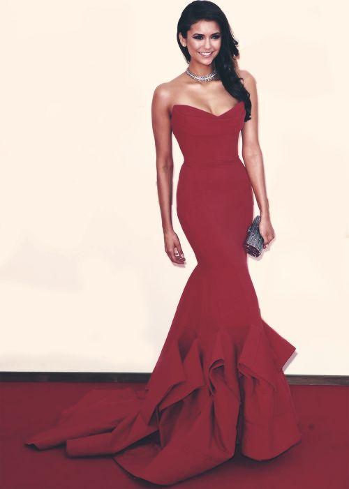 Charming Red Mermaid Party Dress Bodycon Formal Evening Dress Custom ...