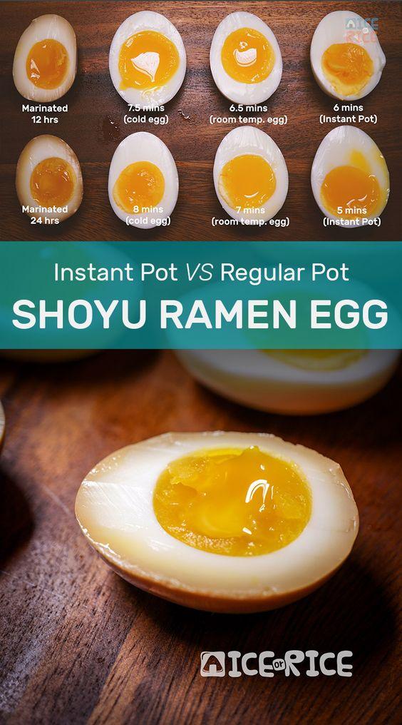 Shoyu Ramen Egg Instant Pot Or Regular Boiling Method Recipe Ramen Egg Shoyu Ramen Ramen Egg Recipe