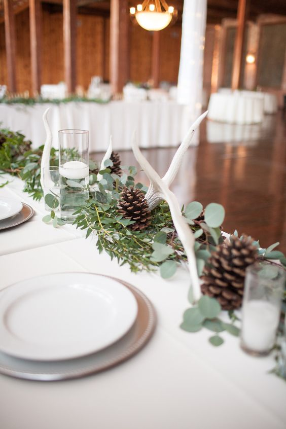 antler wedding décor #woodland