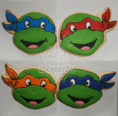 Atelier Zuckersüss: Ninja Turtles cookies