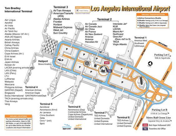 LAX Terminal Map Circa Mid2000s  Throwback Thursday