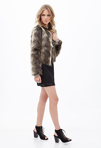 Shaggy Faux Fur Coat | FOREVER21 - 2000120730   @mitchtjr   please please please ?!??!?!? just for winter dress ups i promise