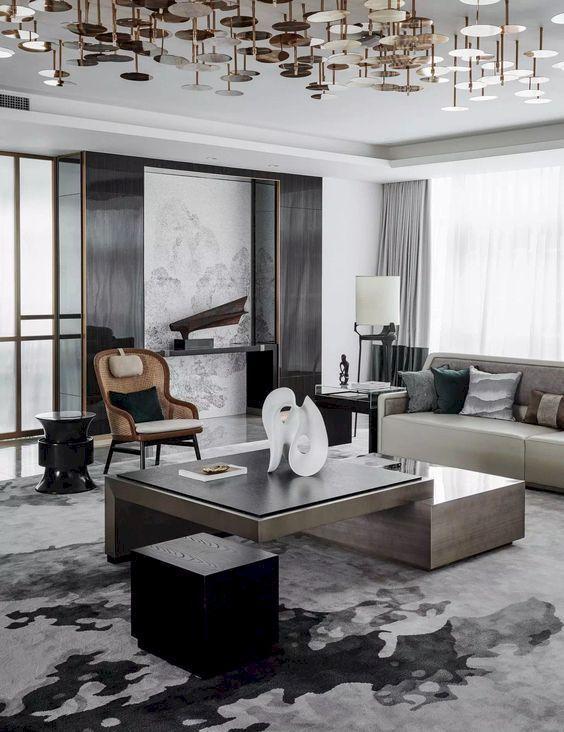 46 Awesome Contemporary Living Room Decor Ideas Roundecor Contemporary Decor Living Room Contemporary Living Room Design Living Room Design Modern