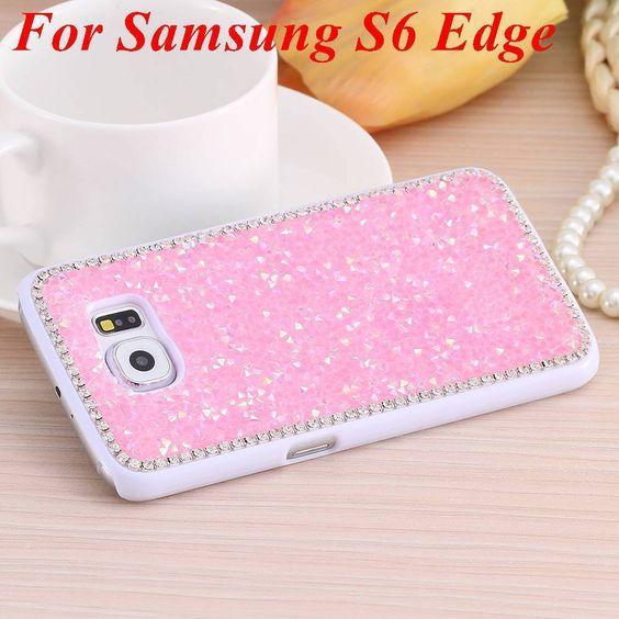 Full Glitter Rhinestone Luxury Back Cover Case for Samsung Galaxy S6 G9200