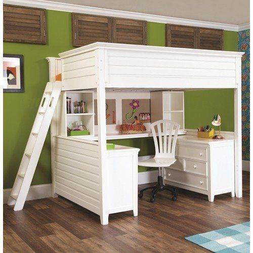 Full Size Loft Bed With Desk Underneath, Loft Bed With Drawers And Desk
