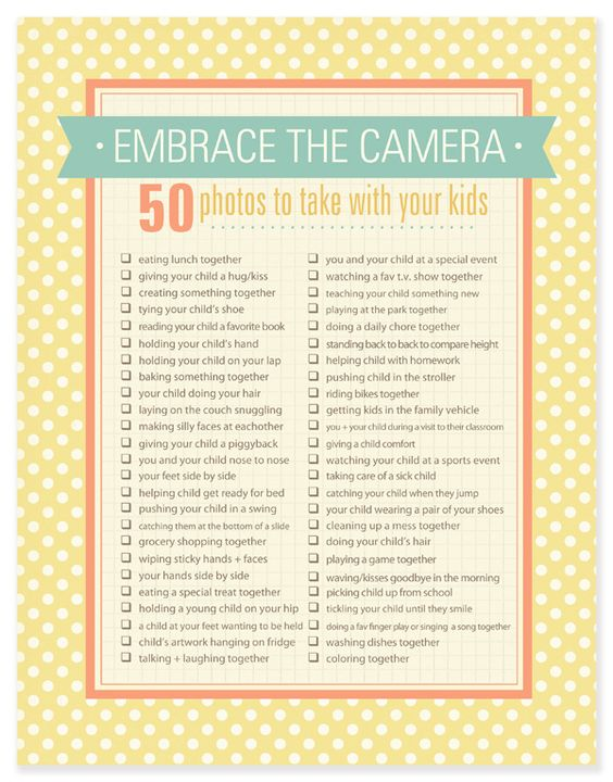 photograph yourself with your kids