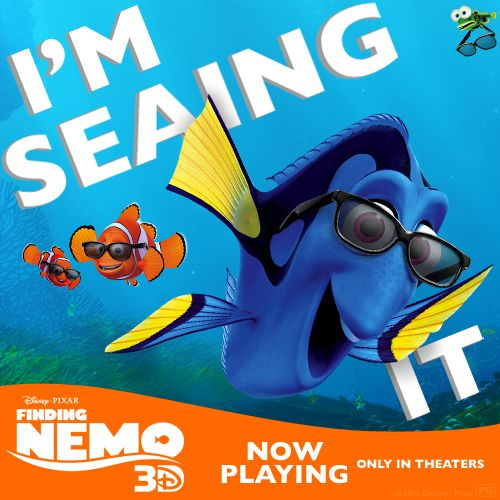 Repin if you're seaing Finding Nemo 3D, now playing in theaters!