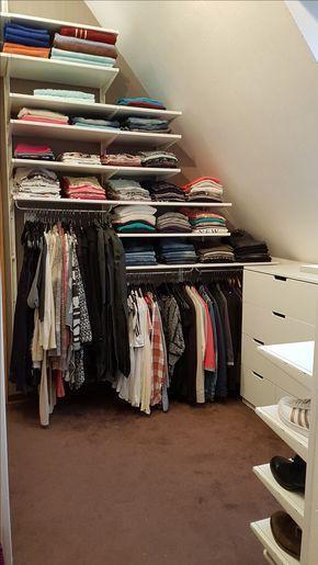 Unser Neues Ankleidezimmer Diy Ikea Selbermachen Regale Schrank Room Idee Ankleide Zimmer Kleiderschrank Fur Dachschrage Schrank Zimmer