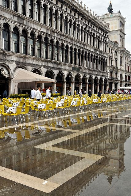yellow chairs- Piazza San Marco, Venice, Italy