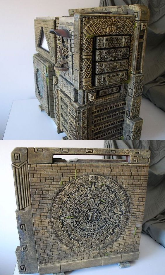 Aztec: Modder Dan McGrath brings a uniquely old-school craftsmanship to his work. And by old-school, we mean, like, 1400 A.D. old-school. This Aztec-themed computer case features dazzlingly intricate detailing, particularly in the side-panel wheel.