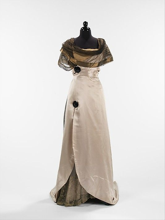 Evening Dress 1914, French, Made of silk: