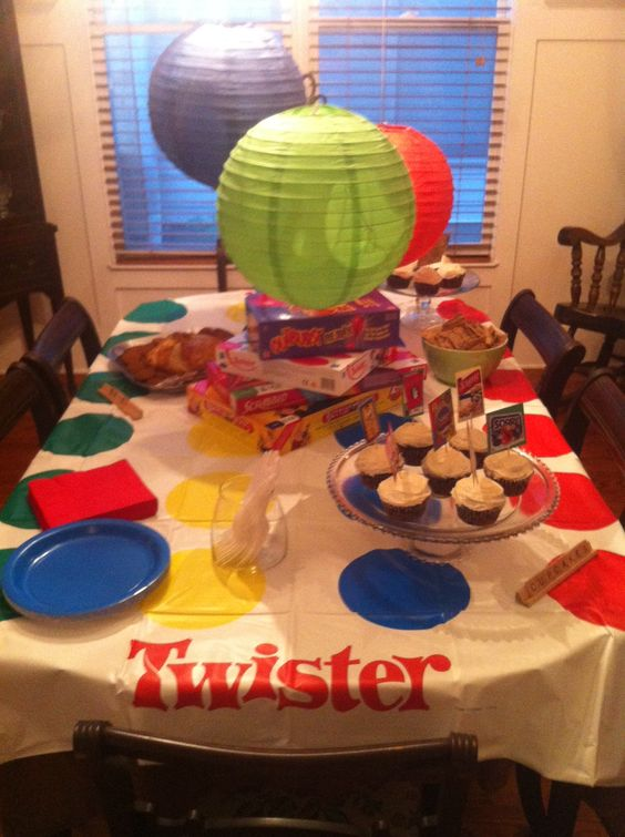Classroom Breakfast Ideas ~ Game night cloths and tables on pinterest