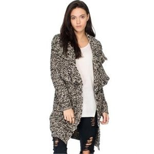All About Eve Lucia Knit Cardi Jumpers and Cardigans Black and Cream