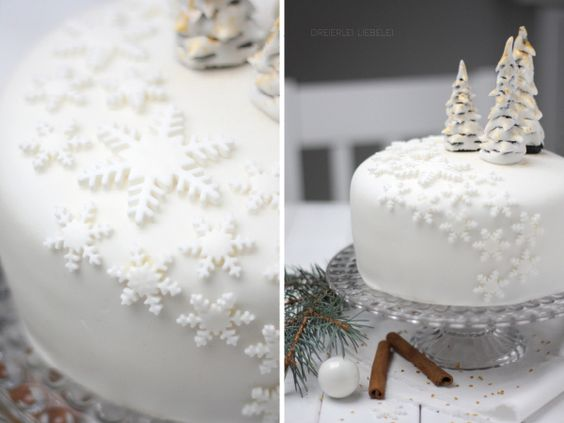 Fondant-Torte Winter Wonderland