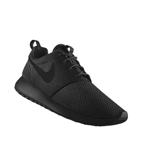 solid black nike shoes