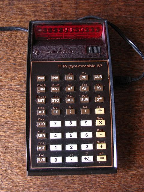 Texas Instruments TI-57 - My very first programmable calculator (1980) | Flickr - Photo Sharing!