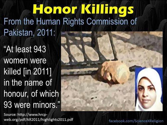 Honor killing on rise