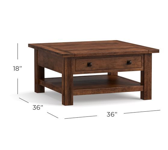 Benchwright 36 Square Coffee Table Square Wood Coffee Table Coffee Table Coffee Table Square