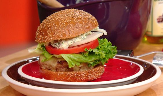 burger recipe hamburgers blue cheese burgers lemon aioli blue cheese ...